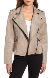 Kut From The Kloth Haddie Faux Suede Moto Jacket Sand