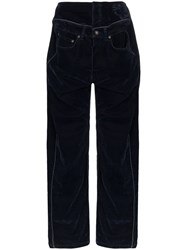 Y Project Pipped Detail Jeans Blue