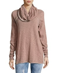 Free People Knit Cowlneck Sweater Rose