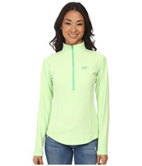 Arc'teryx Delta Lt Zip Paradise Women's Long Sleeve Pullover Blue
