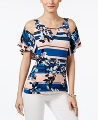 Thalia Sodi Thali Off The Shoulder Printed Top Only At Macy's Peach Breeze Combo
