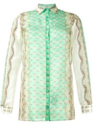Etro Printed Long Sleeve Shirt Green