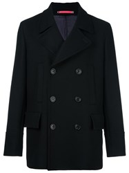 Paul Smith Ps By Double Breasted Coat Black