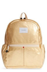State Bags Downtown Kane Backpack Metallic Gold