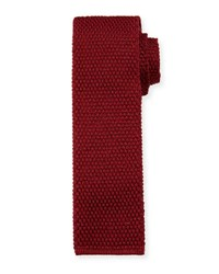 Tom Ford Solid Knit Silk Tie Red