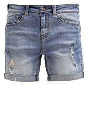 Object Objally Denim Shorts Light Blue Denim