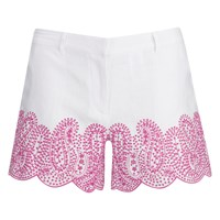 Michael Michael Kors Women's Embroidered Mini Shorts White