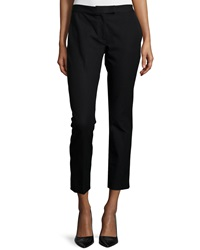 Joseph Gabardine Stretch Ankle Pants Black