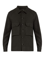 Christophe Lemaire Patch Pocket Wool Jacket Charcoal