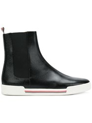 Thom Browne Pebble Grain Chelsea Sneaker Black