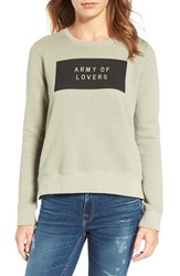 Sundry Women's Army Of Lovers Side Zip Sweatshirt