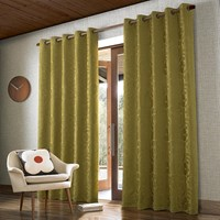 Orla Kiely Climbing Daisy Curtains Dandelion Yellow