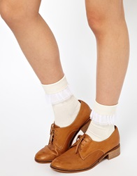 American Apparel Girly Lace Ankle Socks Cremewhite