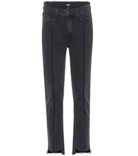 Paige Julia High Rise Straight Jeans Black