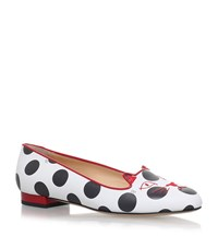 Charlotte Olympia Polka Dot Kitty Flats Female White