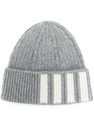 Thom Browne Ribbed Cashmere Hat Grey