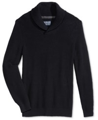 American Rag Men's Shawl Collar Sweater Only At Macy's Deep Black Marl