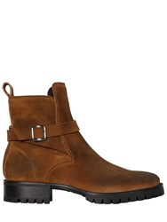 Dsquared Suede Leather Boots W Buckle