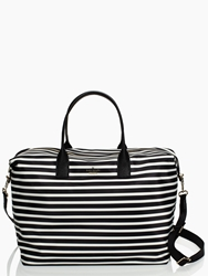 Kate Spade Classic Nylon Lyla Weekender Black Clotted Cream