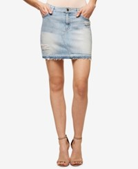 Sanctuary Peyton Released Hem Dakota Wash Denim Skirt