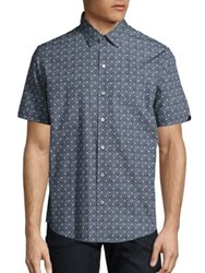 Zachary Prell Short Sleeve Solid Shirt Charcoal
