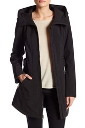 Jessica Simpson Belted Soft Shell Jacket With Hood Black