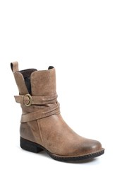 Born Women's Born 'Leandra' Modern Short Leather Bootie Taupe Suede