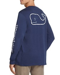Vineyard Vines Whale Graphic Long Sleeve Pocket Tee Blue Blazer