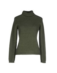 Max Mara Studio Knitwear Turtlenecks Women Military Green