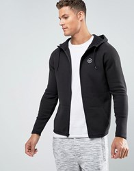 Hollister Full Zip Hoodie Athletic Icon Logo In Black