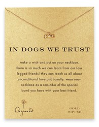 Dogeared In Dogs We Trust Dog Bone Pendant Necklace Gold