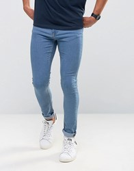Only And Sons Super Skinny Jeans Light Washed Blue