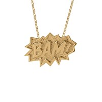 Edge Only Bam Necklace Extra Large Long In Gold