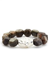 Simon Sebbag Women's Stretch Bead Bracelet Brown