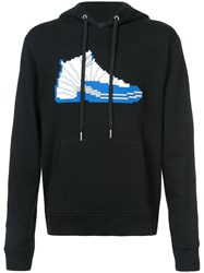 Mostly Heard Rarely Seen Hi Top Sneaker Hoodie Cotton Xl Black