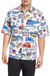 Reyn Spooner Chicago Cubs Classic Fit Camp Shirt Scenic