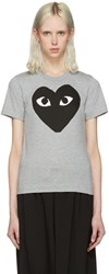 Comme Des Garcons Play Grey Heart T Shirt