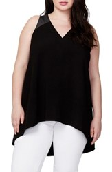 Rachel Roy Plus Size Women's Cross Back Tunic Black