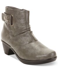 Easy Street Shoes Easy Street Wynne Booties Women's Shoes Grey