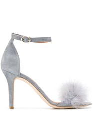Via Roma 15 Feather Detail Sandals Grey