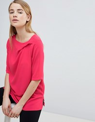 Louche Ruched Front Shell Top Pink