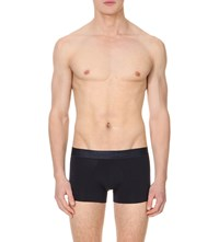 Zegna Branded Jersey Trunks Blue