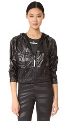 Adidas By Stella Mccartney Run Climatestorm Floral Jacket Black