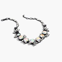 J.Crew Iridescent Crystal Necklace Black