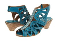 Spring Step Flourish Turquiose Women's Sandals Blue