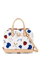 Dooney And Bourke Bluejays Zip Zip Satchel White