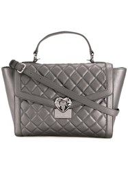 Love Moschino Large Quilted Tote Metallic