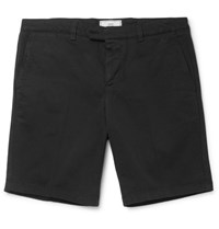 Ami Alexandre Mattiussi Stretch Cotton Twill Shorts Black