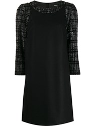 Paule Ka Tweed Panel Dress Black