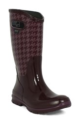 Bogs Women's 'Berkley Houndstooth' Waterproof Rain Boot Eggplant Multi